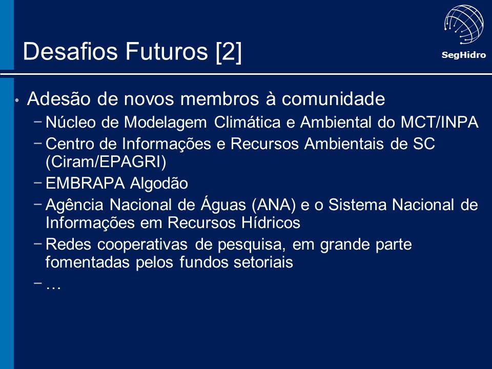 Desafios Futuros [2] Adesão de novos membros à comunidade